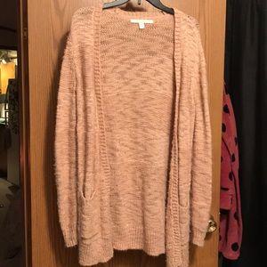 LC Lauren Conrad cozy pink cardigan